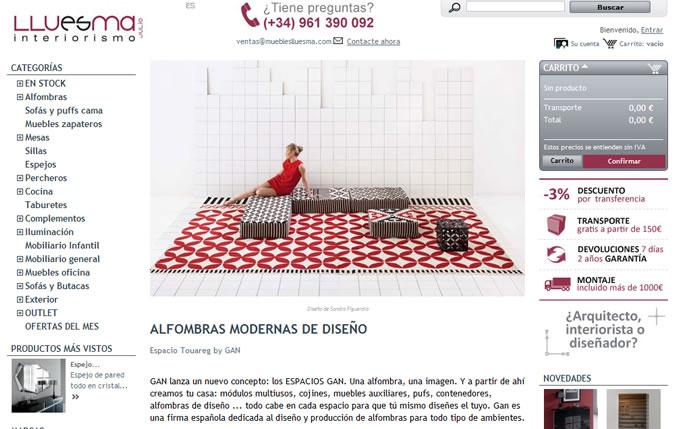 Diseño y desarrollo tienda de muebles online