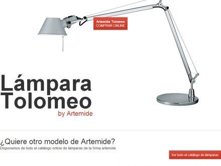 Diseño de landing page Lamparas Artemide