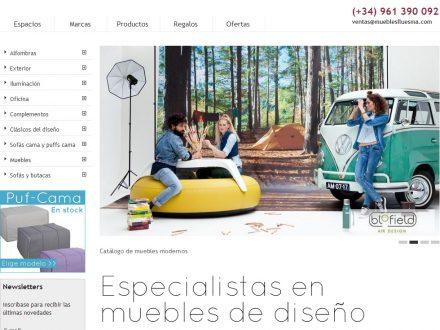 Diseño web tienda online Muebles Lluesma en 2013