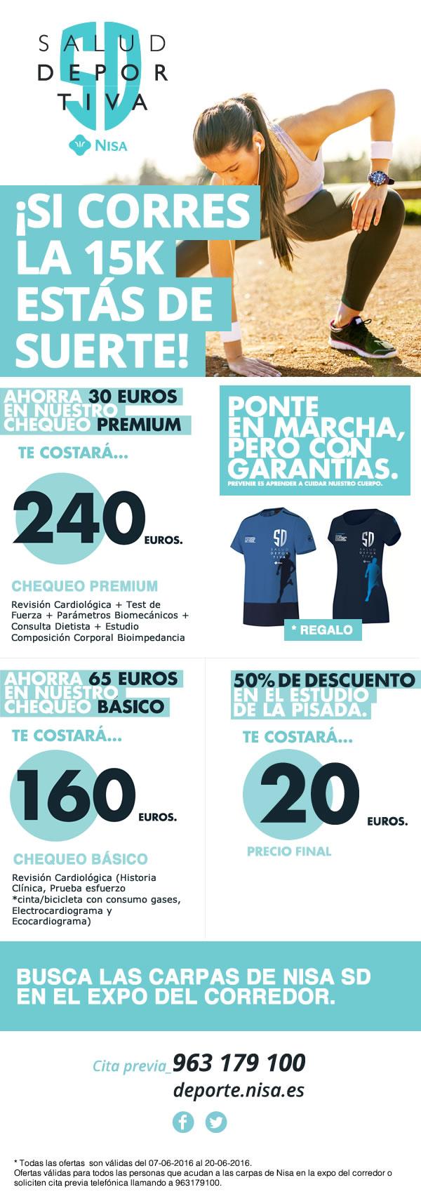 Newsletter para carrera 15 de Valencia