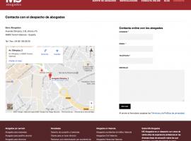 Diseño de página web de contacto