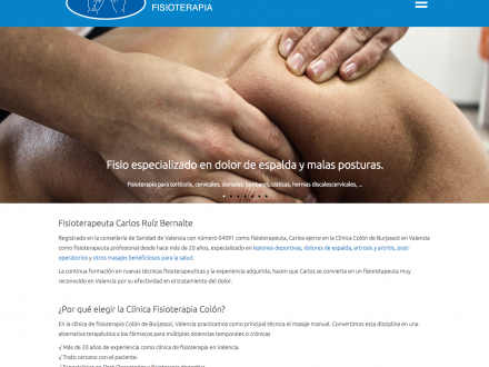 Diseño de página web para fisio en Burjassot