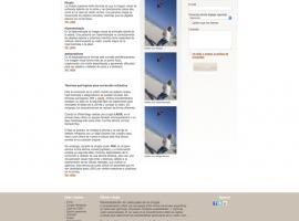 Diseño de página interior de la web