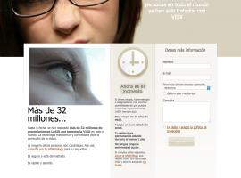Una sección de la página web corporativa