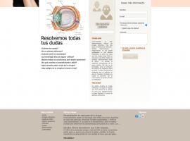 Diseño de sección de la página web