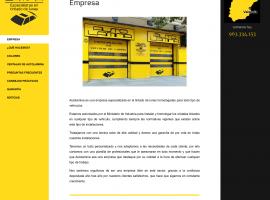 Diseño de la página web empresa Valencia
