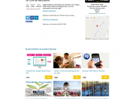 Ficha de producto de página web