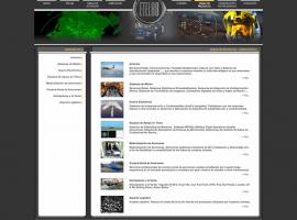Página de contenidos de la página web Madrid