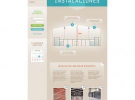 Diseño de páginas web de Espacio Pádel