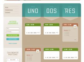 Diseño de página web para pádel