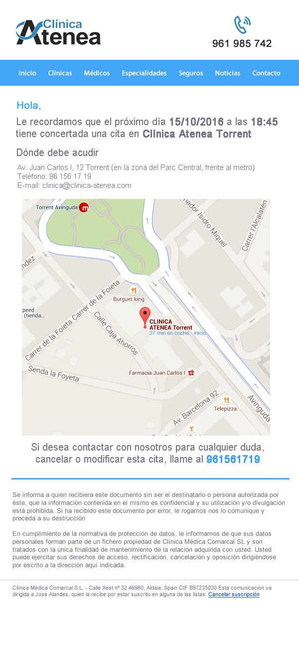 Diseño para clínica Atena Valencia