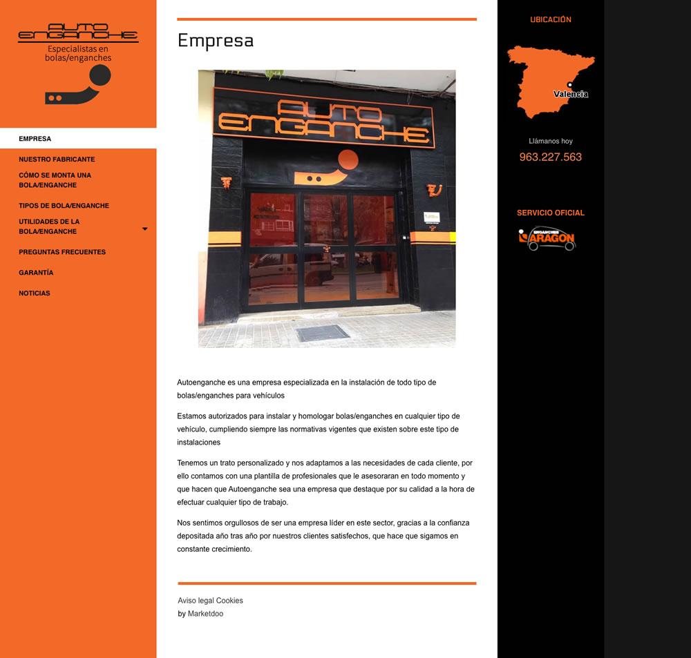 Diseño de página web de la empresa