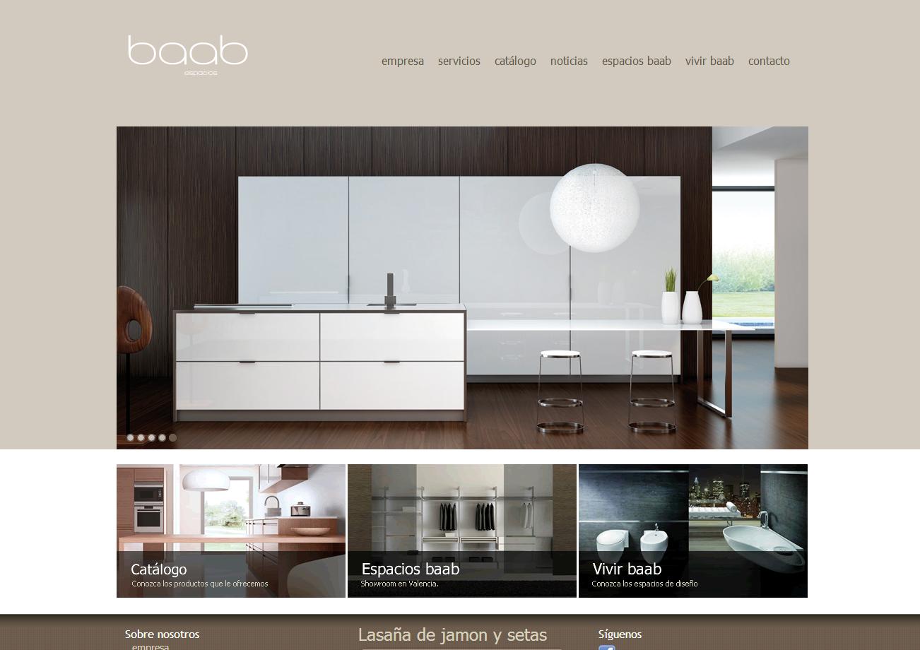 Diseño de página web corporativa empresa de cocinas