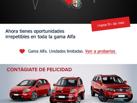 Diseño de newsletter para Alfa Romeo