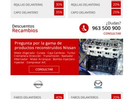 Diseño de email masivo para Nissan