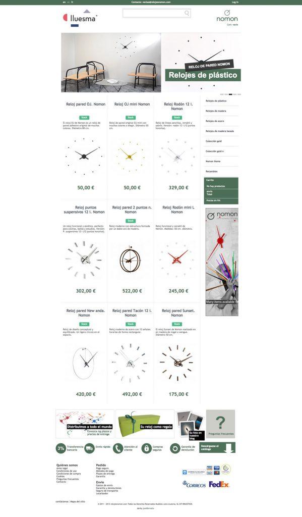 Diseño página home