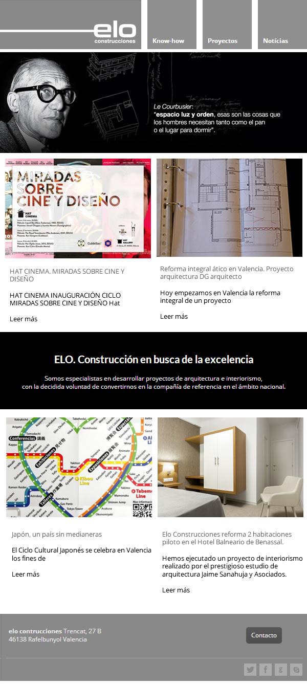 Diseño de newsletter para empresas de construcción