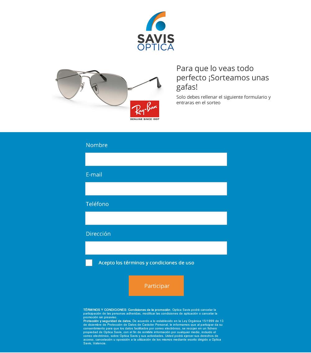 Diseño de formulario para venta de gafas