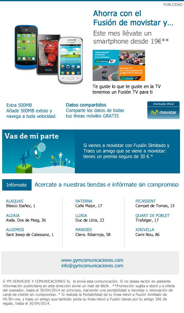 Diseño de newsletter para GYM Movistar