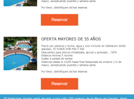 Diseño de newsletter para hotel
