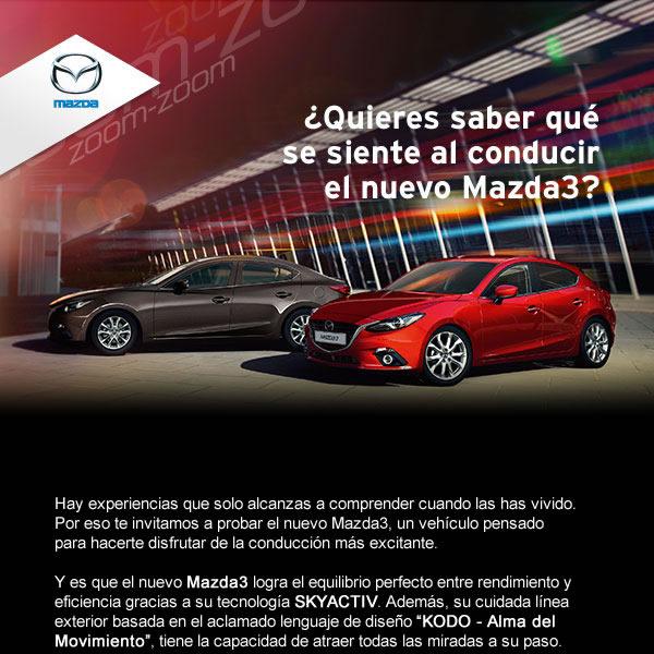Cabecera del newsletter de Mazda
