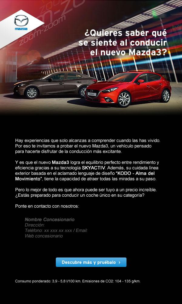Diseño de newsletter para Mazda