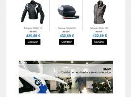 Diseño de newsletter para tienda online de motos BMW