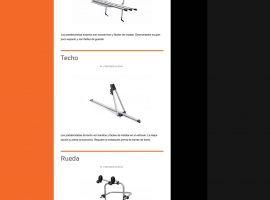 Listado de producto de la página web de Autoenganche
