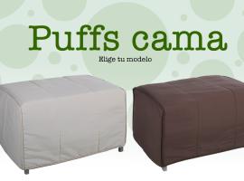Diseño de banner de pufs cama