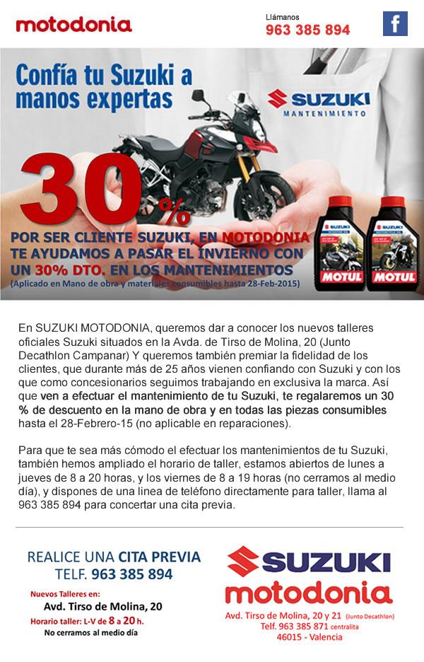 Diseño de newsletter para Suzuki motodonia