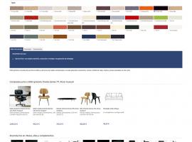 Diseño de ficha de producto para página web tienda de muebles