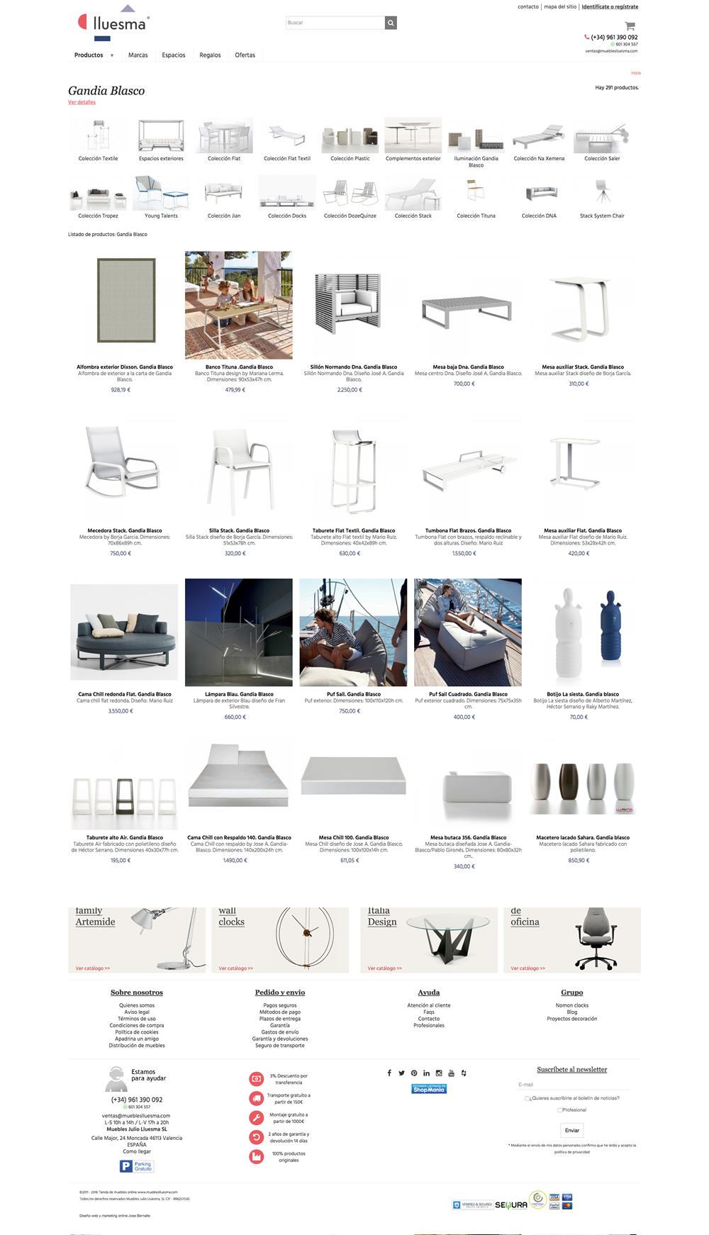 Dise O Y Desarrollo De La Tienda Online De Muebles Lluesma Jose  # Muebles Pagina Web