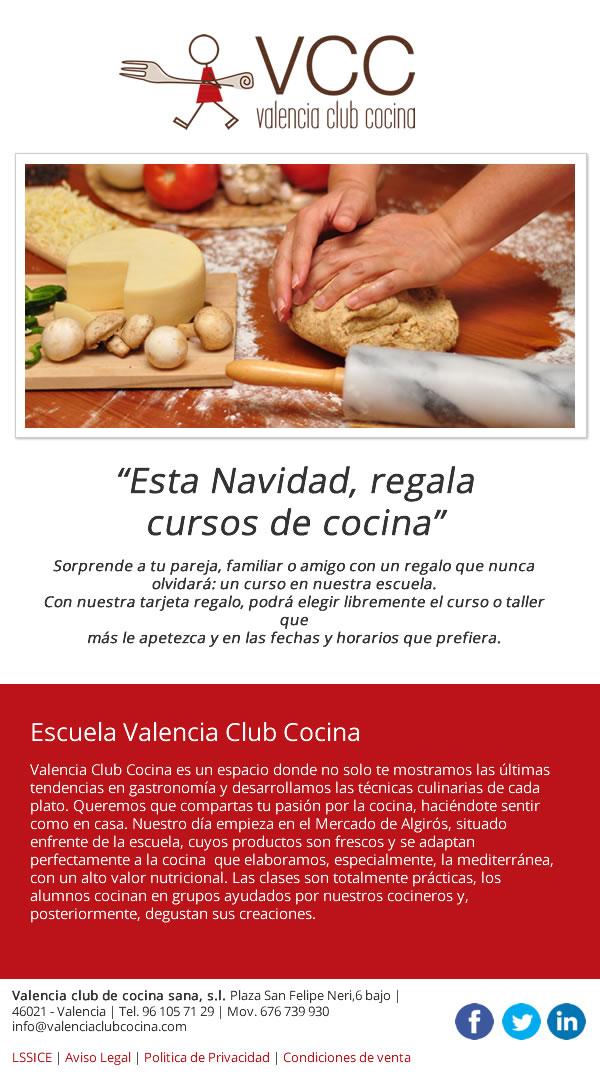 Valencia club cocina promoción por email marketing