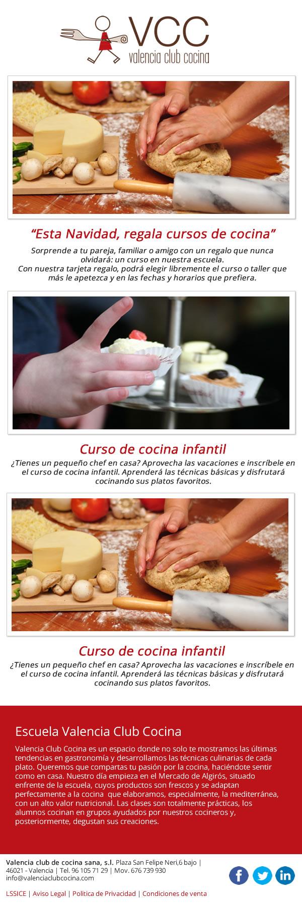 Diseño de newsletter para Valencia Club Cocina