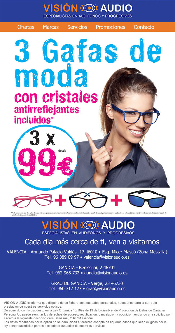 Diseño de newsletter para Vision Audio