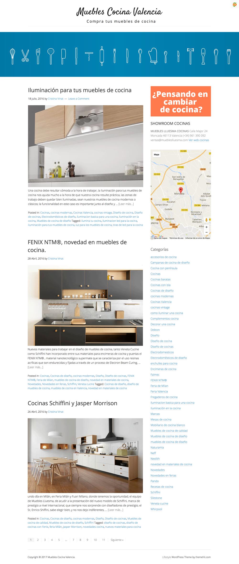 Desarrollo de blog para Muebles de cocina Valencia