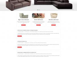 Diseño blog sofas calidad pagina de inicio