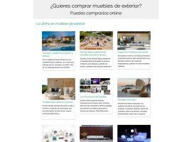 Diseño cabecera con texto animado en la home de la página web