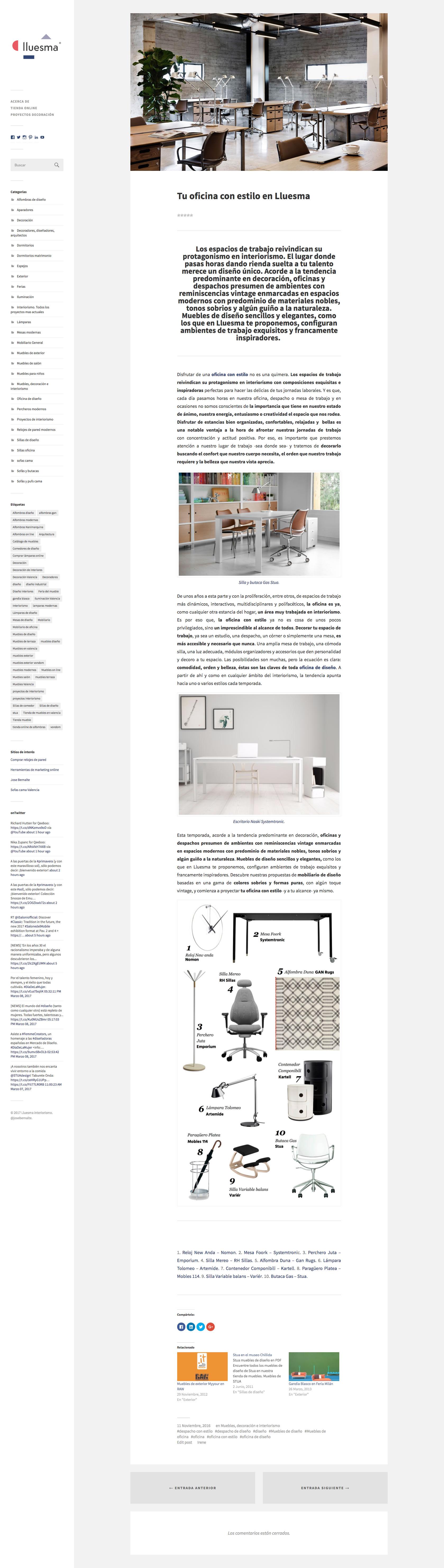 Desarrollo P Ginas Web Dise O Blog De Noticias Lluesma Jose  # Muebles Pagina Web