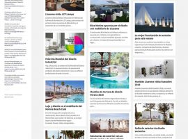 Diseño de página del blog inicial completa