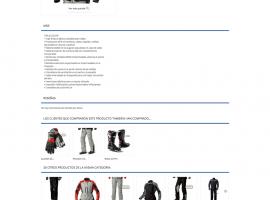 Diseño de página de producto tienda online BMW