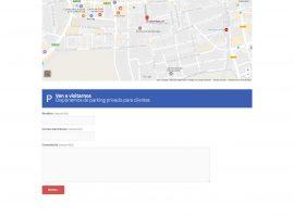 Página web de contacto con la empresa