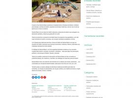 Sección interior de la página web de muebles de exterior