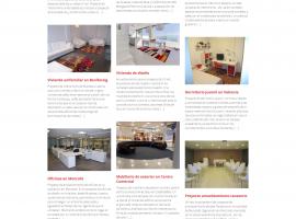 Seccion del apartado proyectos de la página web del estudio