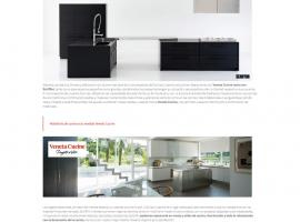 Seccion interior de la página web del estudio de interiorismo
