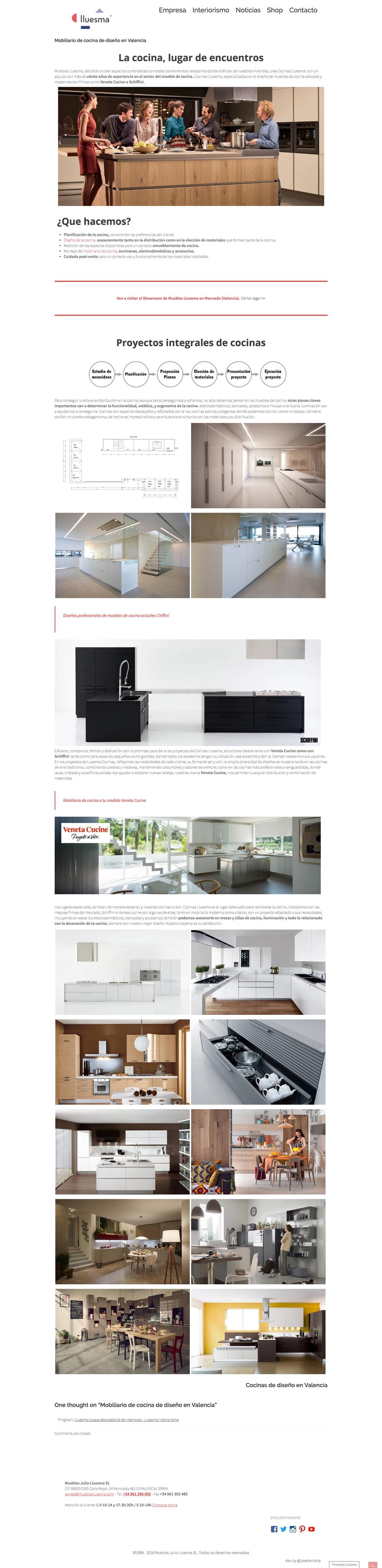 Dise O Y Desarrollo De P Gina Web Para El Estudio De Interiorismo  # Muebles Pagina Web