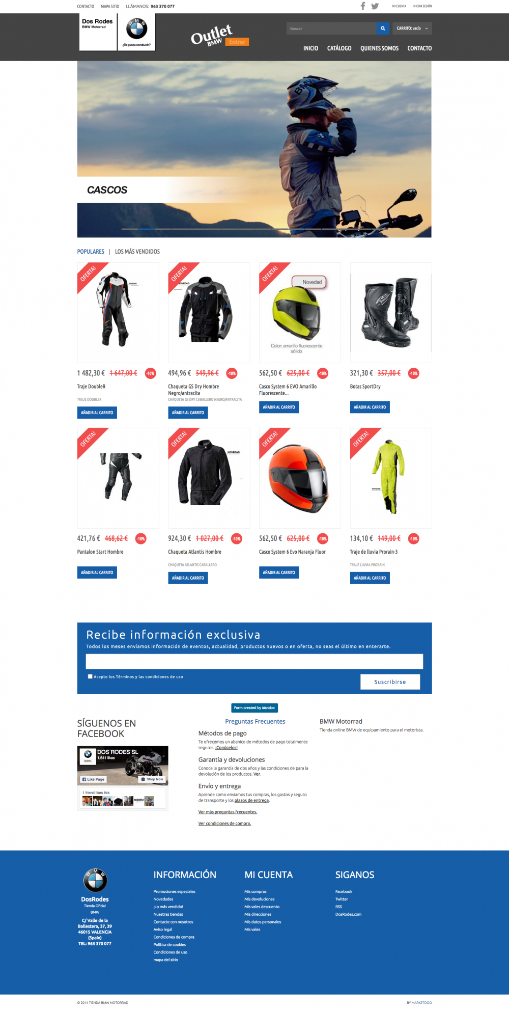 Diseño de tienda online BMW e-commerce