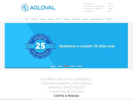 Desarrollo pagina web de inicio de Agloval