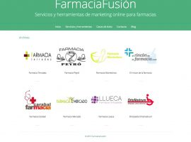 Diseño página web Farmacia Fusión apartado Clientes
