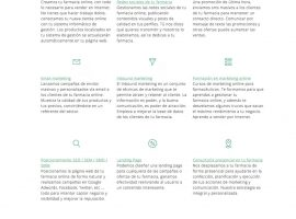 Diseño página web de servicios de marketing online para farmacias